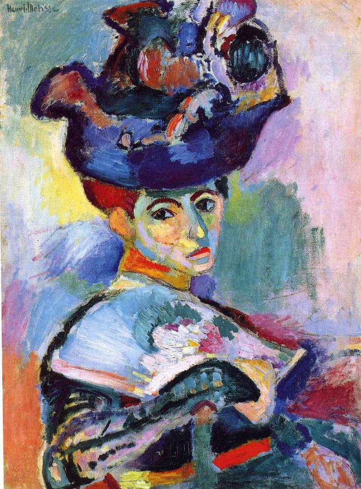 Mujer con sombrero, Henri Matisse, 1905